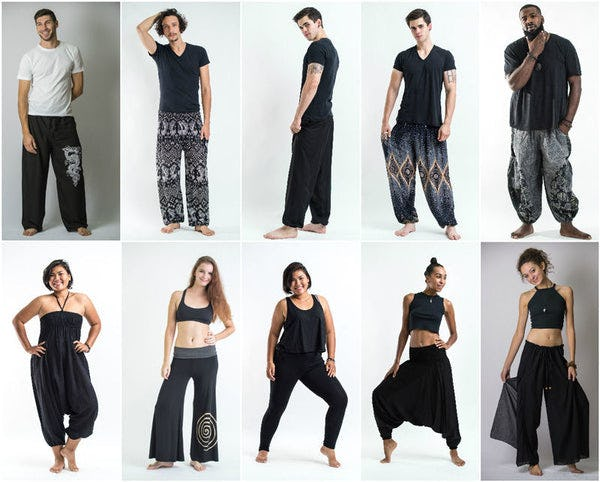 Black Harem Pants, Kimonos, and Accessories
