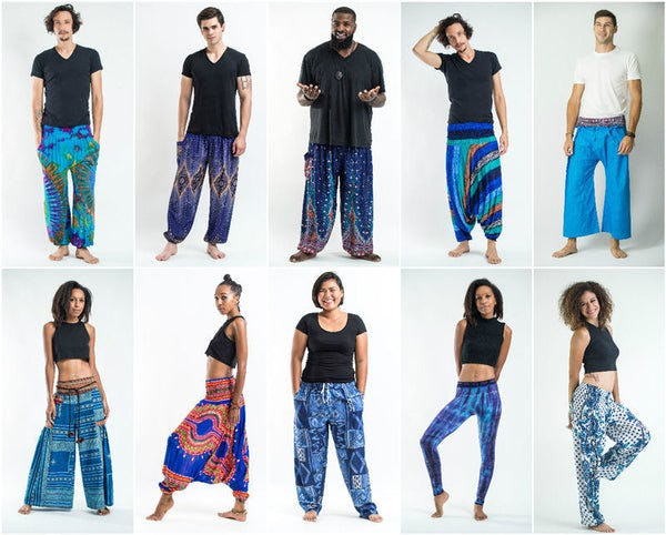 Blue Harem Pants