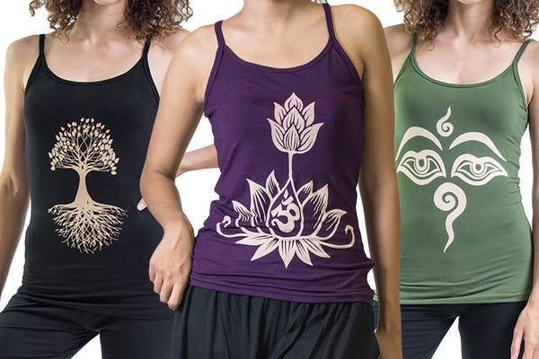 Cotton Spandex Printed Tank Tops