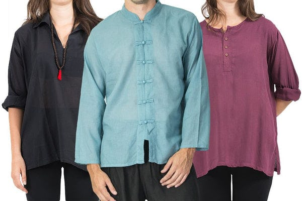 Soft Cotton Yoga Shirts