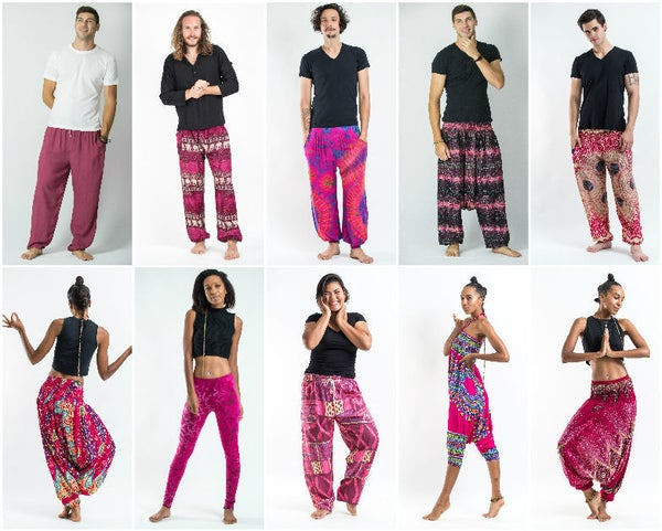 Pink Harem Pants, Kimonos, and Accessories