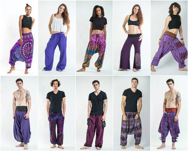 Purple Harem Pants, Kimonos, and Accessories
