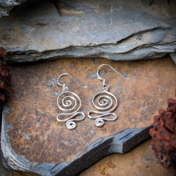 Sterling Silver Earrings Swirl