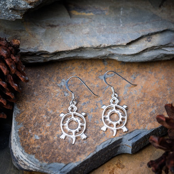 Thai Sterling Silver Earrings Classic Turtle