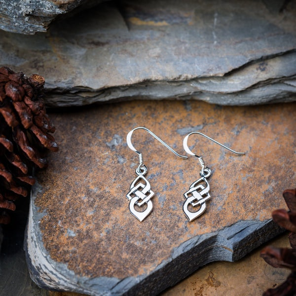 Thai Sterling Silver Earrings Celtic Knots