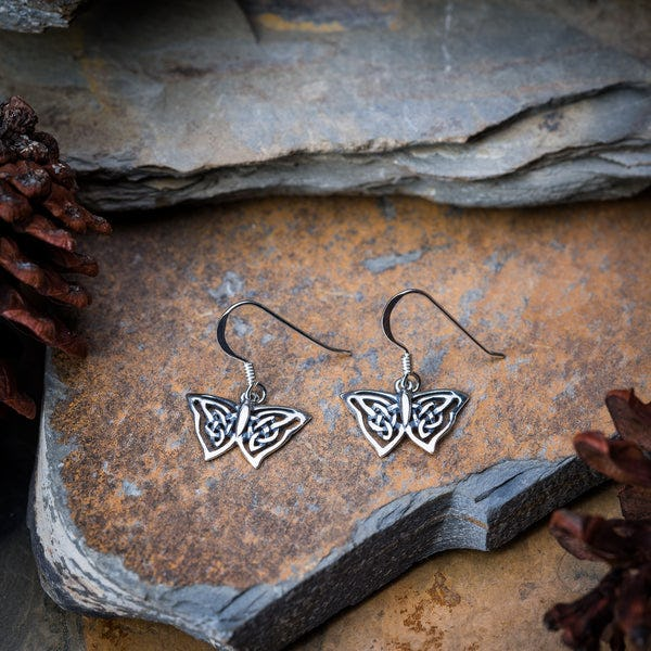Thai Sterling Silver Earrings Butterfly