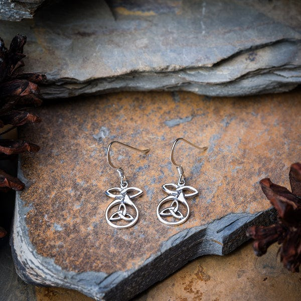 Thai Sterling Silver Earrings Celtic Circle
