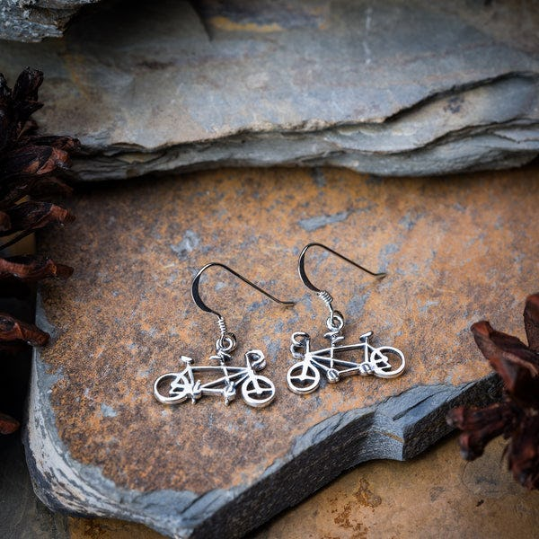 Thai Sterling Silver Earrings Bicycle