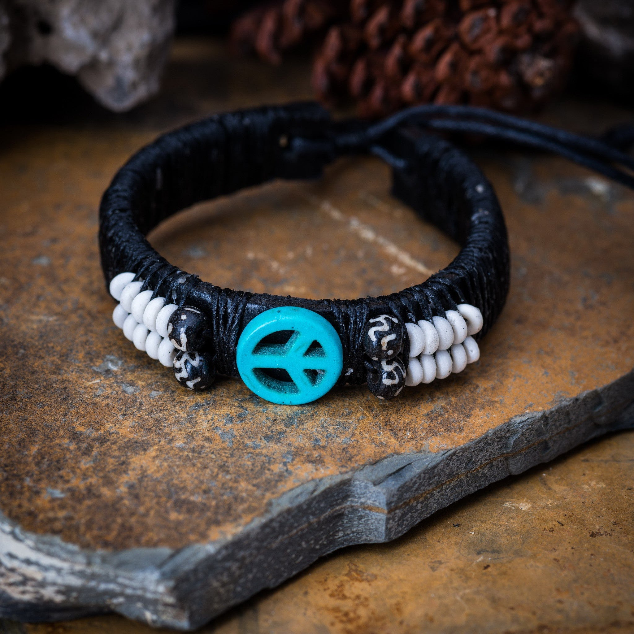 sign lavha inner products peace bracelet
