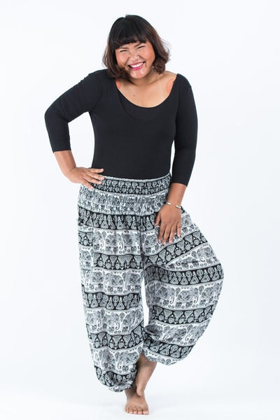 women plus size harem pants