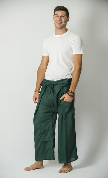 Unisex Thai Fisherman Pants in Green