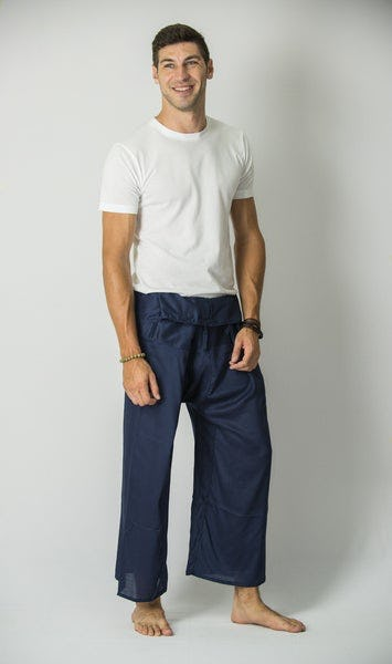 Unisex Thai Fisherman Pants in Steel