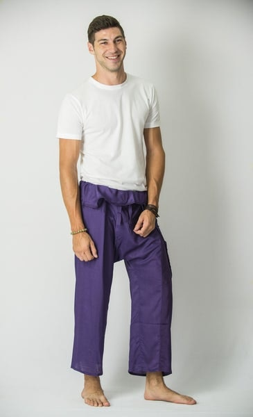Unisex Thai Fisherman Pants in Grape