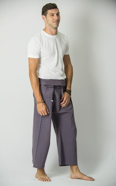 Unisex Thai Fisherman Pants in Silver