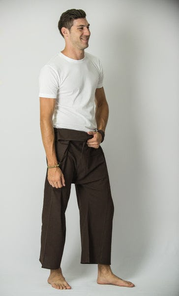 Unisex Thai Fisherman Pants in Chocolate