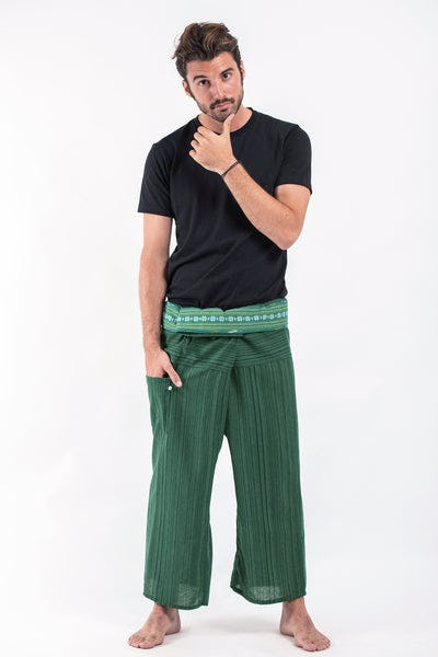 Unisex Thai Fisherman Pants in Fresh Green