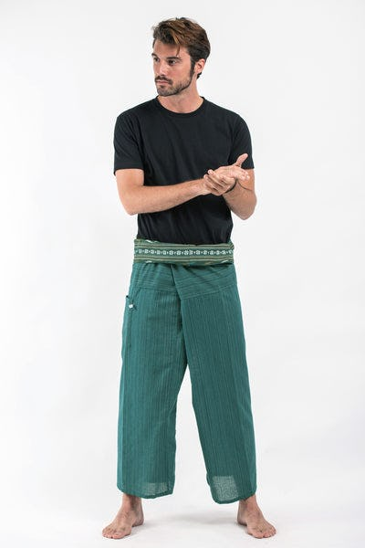 Unisex Thai Fisherman Pants in Teal