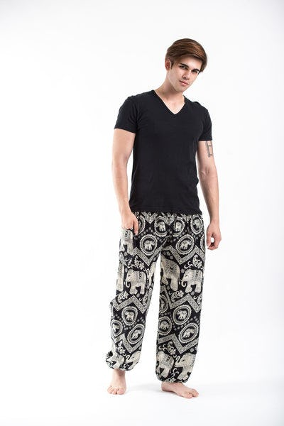 Imperial Elephant Men's Harem Pants in Black