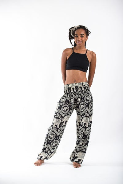 Imperial Elephant Women's Elephant Pants in Black