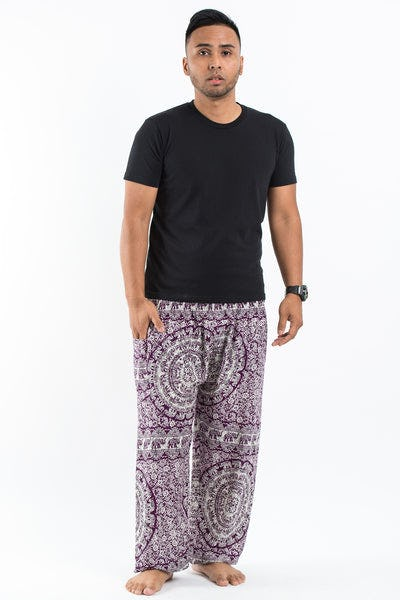 Paisley Elephant Men's Elephant Pants in Purple