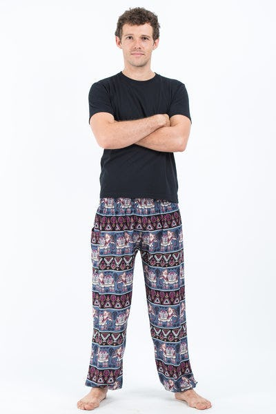 Aztec Elephant Men's Elephant Pants in Gray