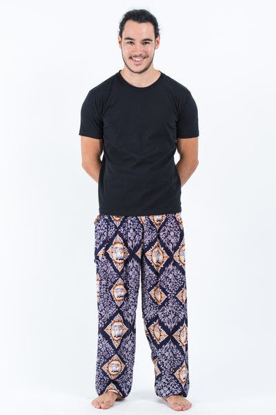 Diamond Elephants Men's Harem Pants in Purple