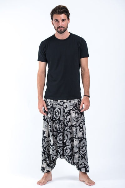 Imperial Elephant Drop Crotch Men's Elephant Pants in Black