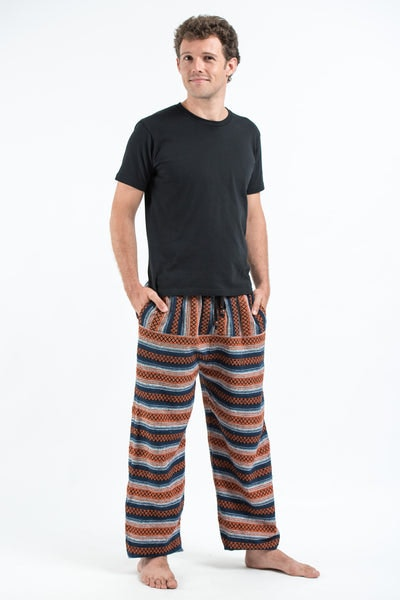 Drawstring Hill Tribe Men's Harem Pants In Orange