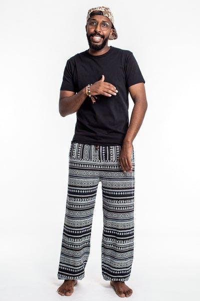 Drawstring Hill Tribe Men's Harem Pants In White