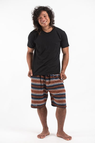 Drawstring Hill Tribe Men's Shorts In Orange
