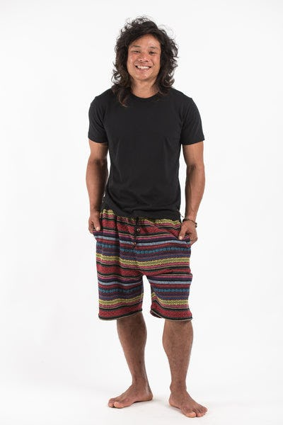 Drawstring Hill Tribe Men's Shorts In Red