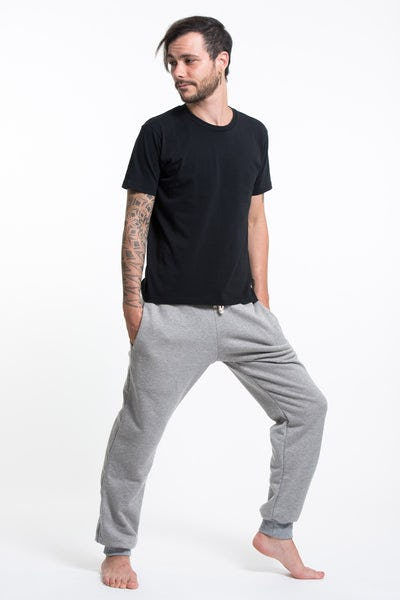 Men's Terry Pants with Aztec Pockets in Gray