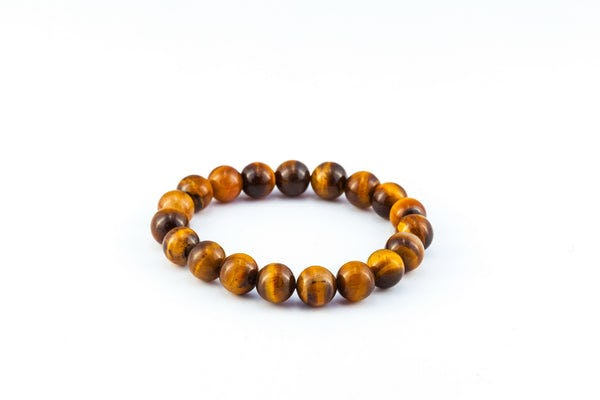 Mala Lucky Stone Hand Made Bracelet Elastic With Tigers Eye