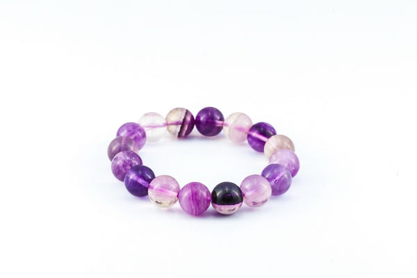 Mala Lucky Stone Hand Made Bracelet Elastic With  Flourite