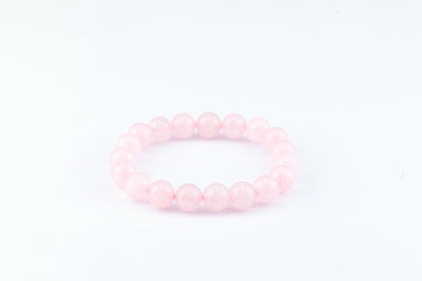 Mala Lucky Stone Hand Made Bracelet Elastic With Rose Quartz