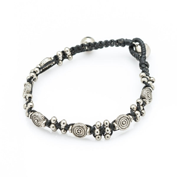 Hill Tribe Silver Bead And Tribal Charm Bracelets