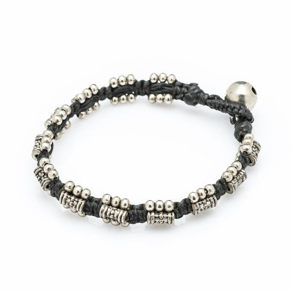 Hill Tribe Silver Bead And Rustic Charm Bracelets
