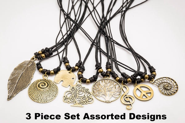 Hand Made Brass Necklace 3 Pcs. PACK