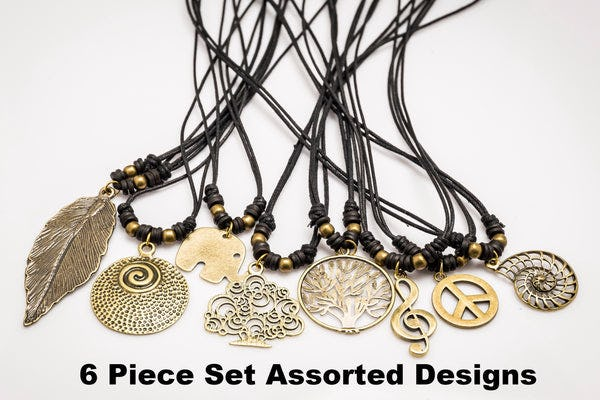 Hand Made Brass Necklace 6 Pcs. PACK