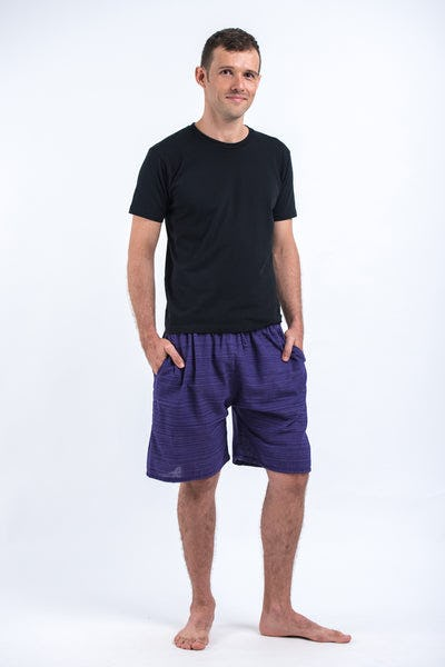 Drawstring Pinstripe Shorts in Violet