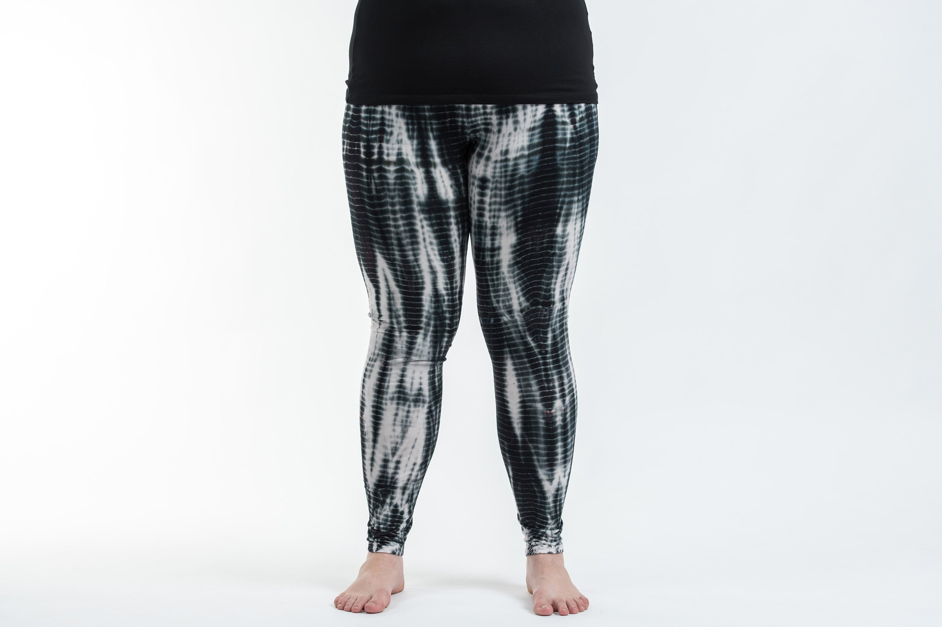 Red Black and White Geometric Leggings  Soft Stretch Pants for Women  Checkered Pattern  Unique Leggings  Womens Yoga Pants