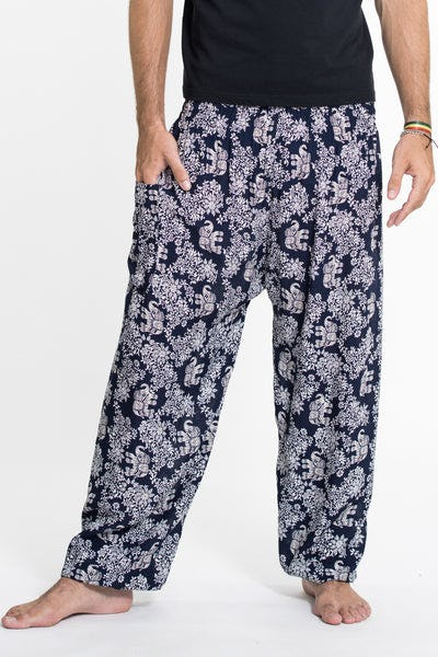 Blooming Elephant Tall Harem Pants in Navy