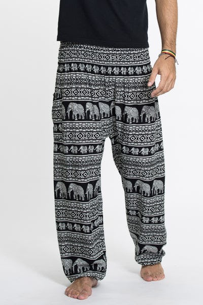 Boho Elephant Tall Harem Pants in Black