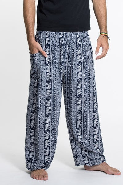 Elephant Paisley Tall Harem Pants in Navy