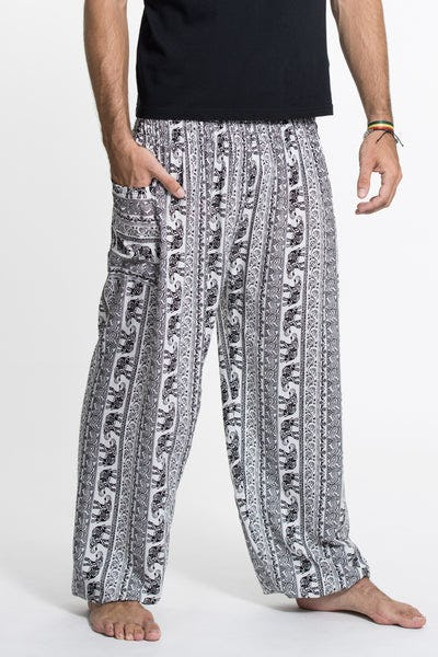 Elephant Paisley Tall Harem Pants in White