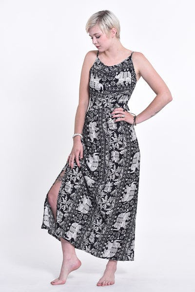Elephant Orchard Tie Back Maxi Dress in Black