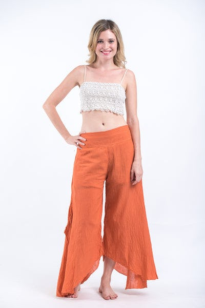 Women's Cotton Tinkerbell Palazzo Pants in Orange