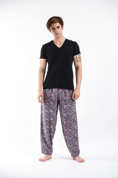 Thai Organic Cotton Paisley Maroon Men's Drawstring Pants