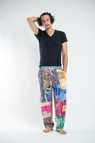Thai Organic Cotton Patchwork Men's Drawstring Pants