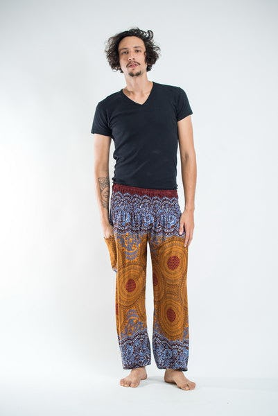 Geometric Mandalas Men's Harem Pants in Bronze